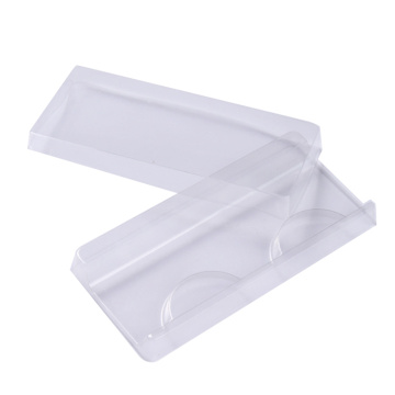 Cosmetic empty clear plastic eyelash tray