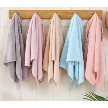 Adult Soft Coral Velvet Microfiber Face Towel