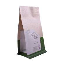 craft paper ziplock valve coffee packaging