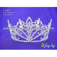 Wholesale Cheap Full Round Rhinestone Pageant Crowns
