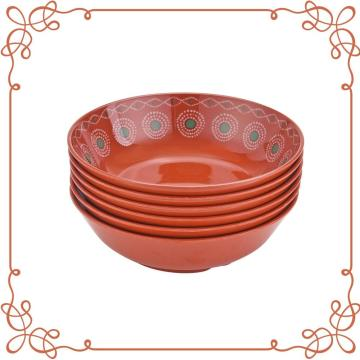7.5 Inch Melamine Shallow Bowl Set of 6