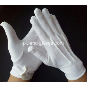 Rękawice wojskowe Formal Cotton White Nylon Parade Usher