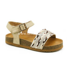 Shining Girls Sandals With Cork Sole