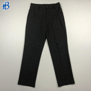 High quality casual smart dark plaid trousers for men with a cheap price