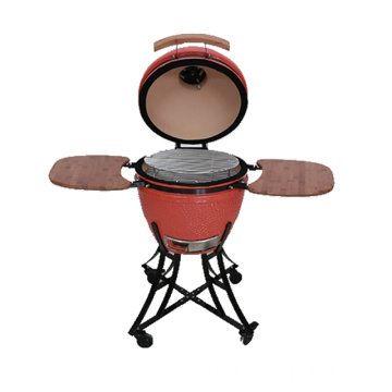 "21""glazed  Kamado with  ferruginous  Base"