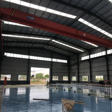 steel structure shed light weight metal building