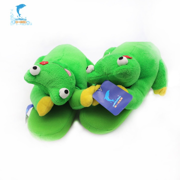 OEM custom winter indoor frog animal kids slippers