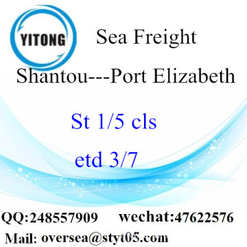 Shantou Port LCL Consolidation To Port Elizabeth
