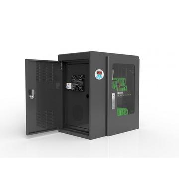 cell phones and tablets charging kiosk locker