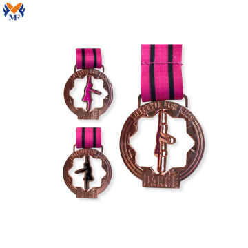 Rose gold metal rotate medal