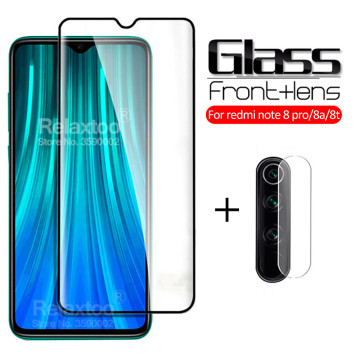 2-in-1 Camera Protective Glass For xiaomi redmi note 8 pro Glass Xiomi Redmi Note 8T 8A 8 T A A8 T8 note8t not 8pro Safety glass