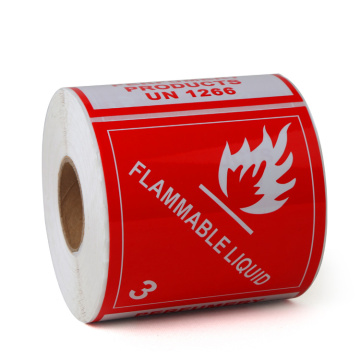 Custom Dangerous Goods Fire Resistant Warning Labels