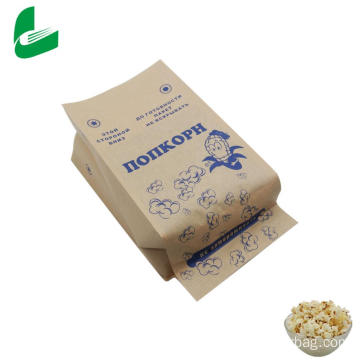 High quality greaseproof kraft microwave popcorn bag