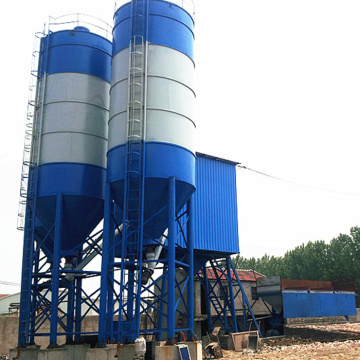 HZS35 bucket type concrete batching plant for sale