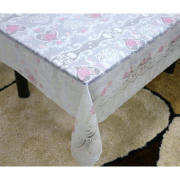 Printed pvc lace tablecloth by roll resistant