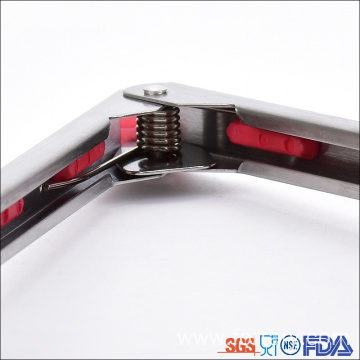 7 inch Stainless steel handles silicone tongs