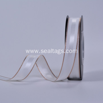 Single Face Slited Edge Polyester Satin Ribbon