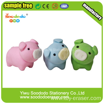 3D pig stationery eraser set