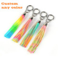Custom BPA Free Mix Color Silicone Tassel Keychain
