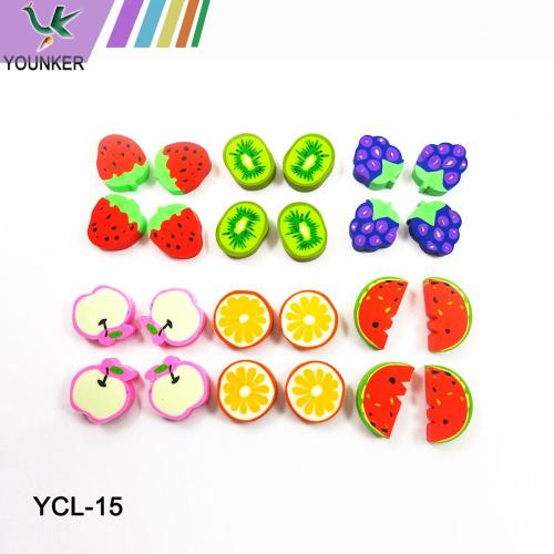 Fruit Erasers Set with pack of 6/24