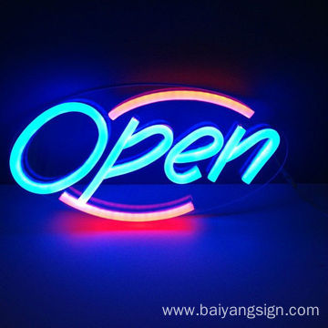 outdoor+indoor DIY designed neon letter sign for shop open & decoration