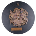 22 Inch Wooden Wall Gear Clock