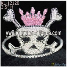 Halloween Holiday Rhinestone Skull Pageant Crowns