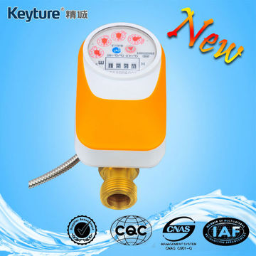 Direct Reading Remote Valve Control Water Meter(Orange)
