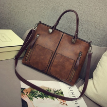 2021 Vintage Luxury Handbag Female Causal Totes Bag Leather Women Handbag Messenger Bag Clutch Handbags Winter Bolsa Feminina