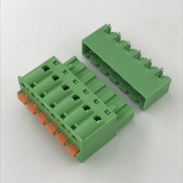 pluggable terminal block with push in botton