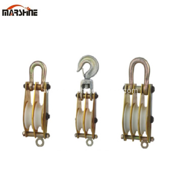 Three Nylon Sheave Wire Lifting Pulley Block