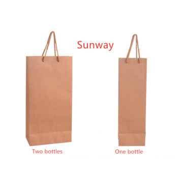 High end kraft paper wine bag