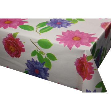 Elegant Tablecloth with Non woven backing Green Vinyl