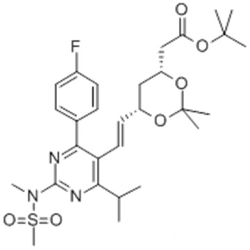 tert-Butyl 6-[(1E)-2-[4-(4-fluorophenyl)-6-(1-methylethyl)-2-[methyl(methylsulfonyl)amino]-5-pyrimidinyl]ethenyl]-2,2-dimethyl-1,3-dioxane-4-acetate CAS 289042-12-2