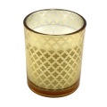 Frosted aromatherapy glass candle