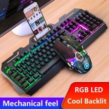 Gaming keyboard and Mouse Wired keyboard with backlight Waterproof Computer Game Keyboard Gaming Gamer Mouse Set For Laptop PC