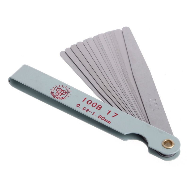 17 Blades 0.02-1.00mm Feeler Gauge Metric Gap Filler Gage Measurment Tool Moto Engine Valve Adjustment Motorcycle Accessories