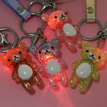 Bear Glitter Keychain Wholesale