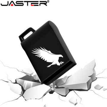 JASTER Black Mini Metal USB Flash Drive 4GB 8GB 16GB 32GB 64GB Real Capacity Flash Disk 2.0 Custom LOGO Free Gift Key Chain