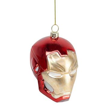Iron Man Head Shaped Cool Customized Christmas Glass Ornaments