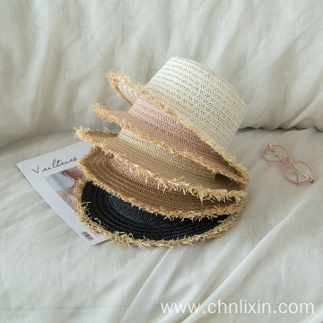 Wholesale tassels straw hat styles gored hat
