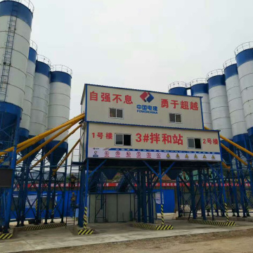 HZS120 self-loading belt conveyor concrete batching plant