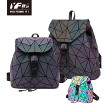 Custom for girls luminous quilted fashion leather backpack