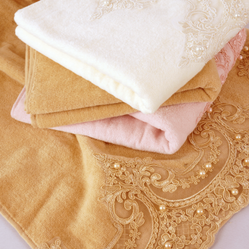 towel with a beautiful lace