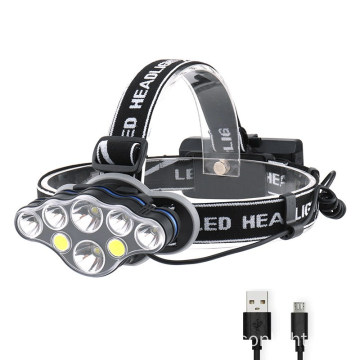 High Lumen Waterproof Head Lamp with Red Light