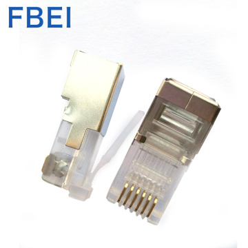 Hoogwaardige gold plating 6P6c stp-connector