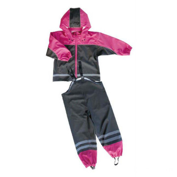 Children PU Waterproof Rain Suit