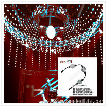 DMX video 3D LED ball sphere string curtain
