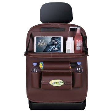 Premium Pu Leather Car Back Seat Organizer for Travel