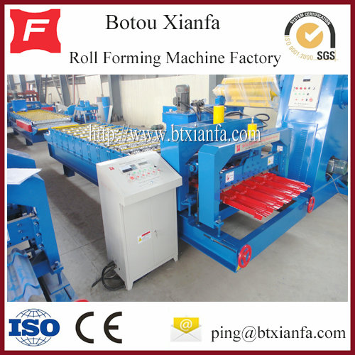 Roof Panel Glazed Tile Roll Forming Machine